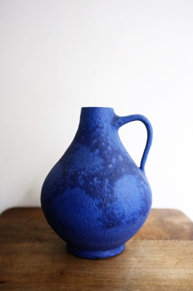 Find Similar Vivid Blue Lava Pottery Jug With Markings Home
