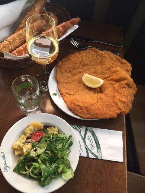 Wiener Schnitzel Platter At Figlmüller Restaurant In Vienna Austria