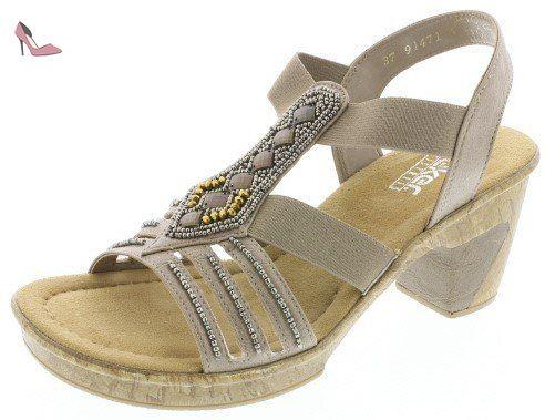 Chaussures 36 Sandale Beigeeu Wxlzitopku 69713 Rieker Femmes SUVMLzpqG