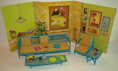 Vintage Barbie Go Together Furniture W Backdrop Rare Barbie Diorama Barbie Go Vintage Barbie Dolls