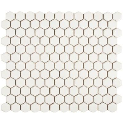 Merola Tile Metro Hex Matte White 10 1 4 In X 11 3 4 In X 6 Mm Porcelain Mosaic Tile 8 56 Sq Ft Case Fdxmhmw Porcelain Mosaic Tile Porcelain Mosaic Hexagonal Mosaic