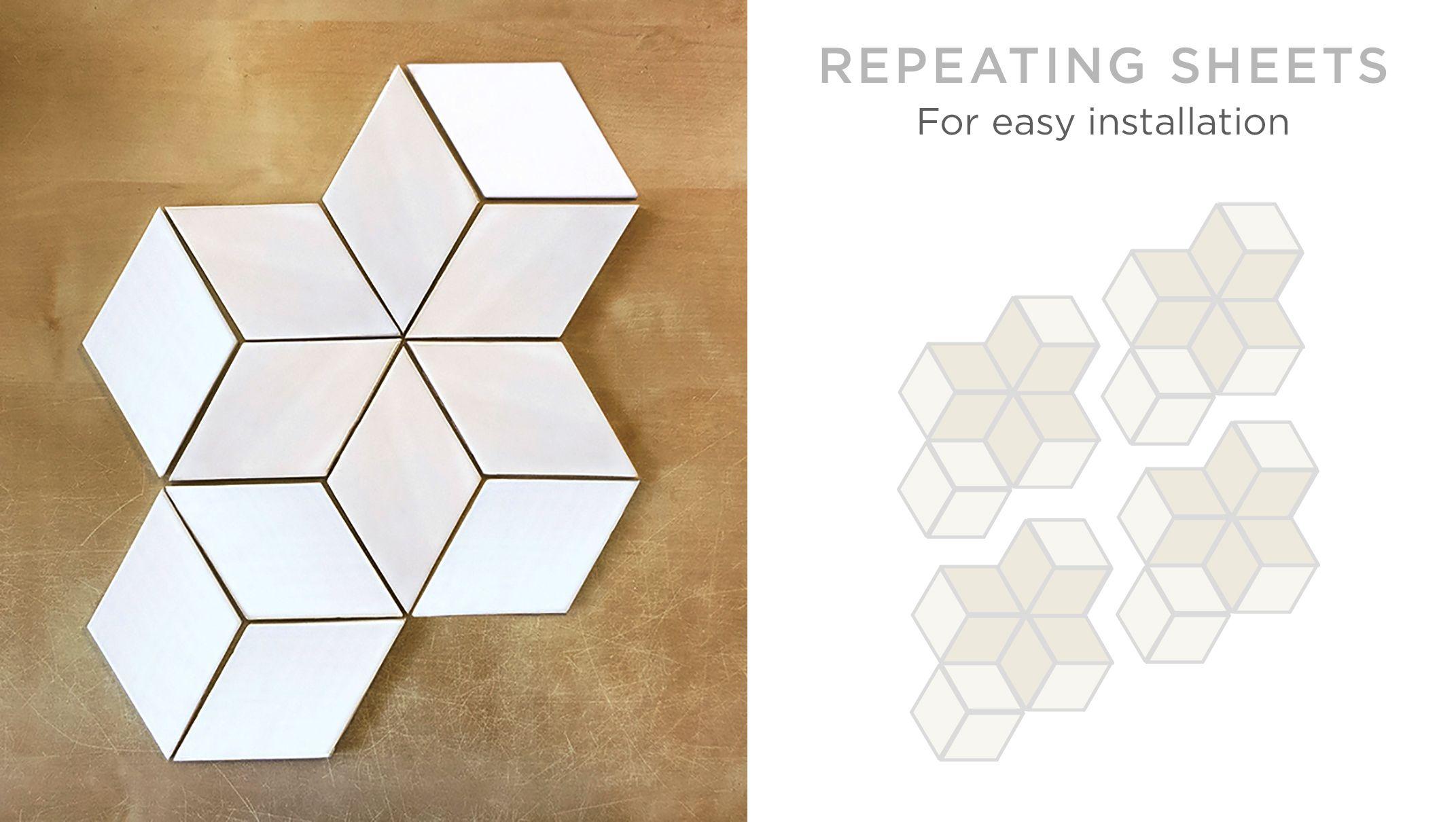 modern kitchen design with diamond tile