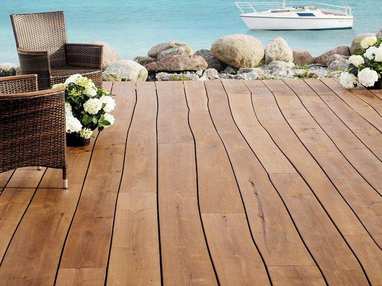 Pavimento per esterni in legno by bolefloor tec - Pavimento in legno esterno ...