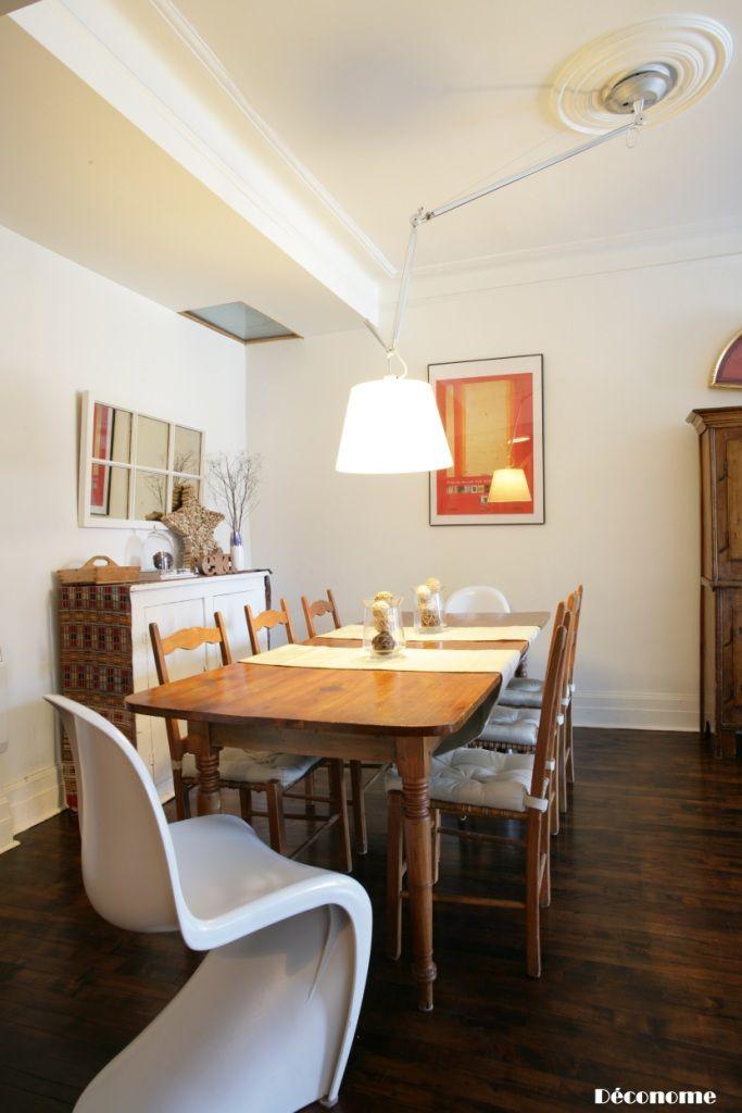 Luminaire avec plafonnier décentré 4 solutions Salons et salles à