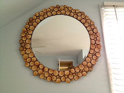 Decorer Un Miroir Avec Des Rondelles De Bois Decoration