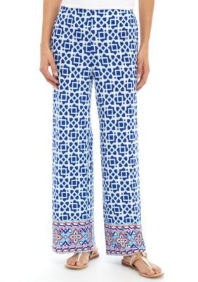 Ruby Rd Malibu Multi Petite Geometric Soft Pants
