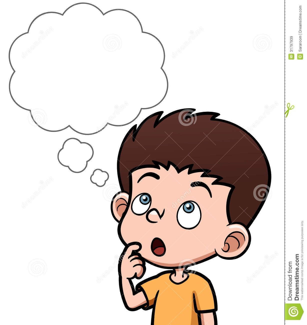 Person Thinking With Thought Bubble Cartoon Boy Thinking White Bubble Vector Illustration 31797939 Jpg 1227 Cartoon Boy Clip Art Library Art Drawings For Kids