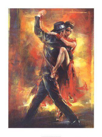 Tango Argentino Art Poster Print by Pedro Alvarez, 24x32…   Arte ...
