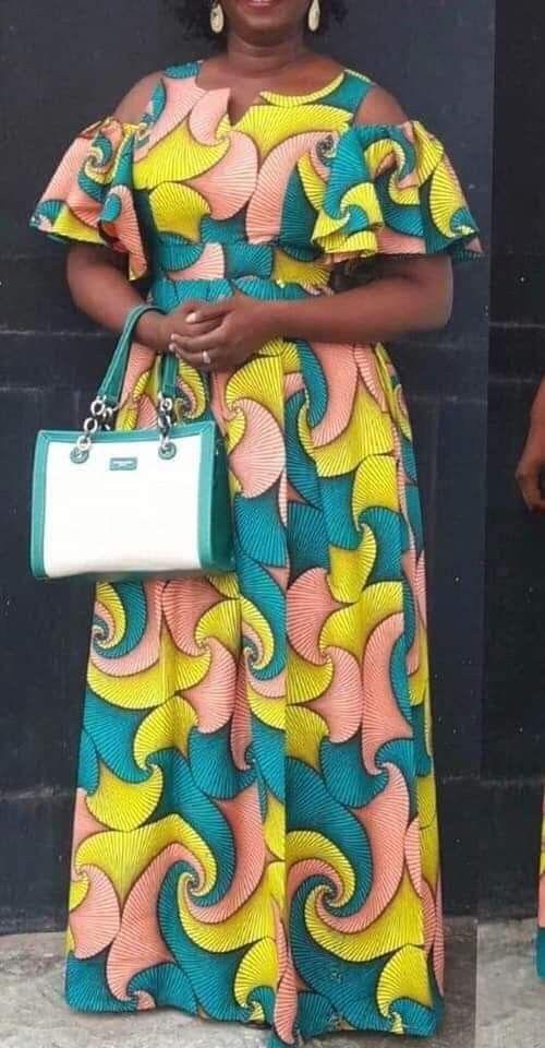 Modell #afrikanischekleider