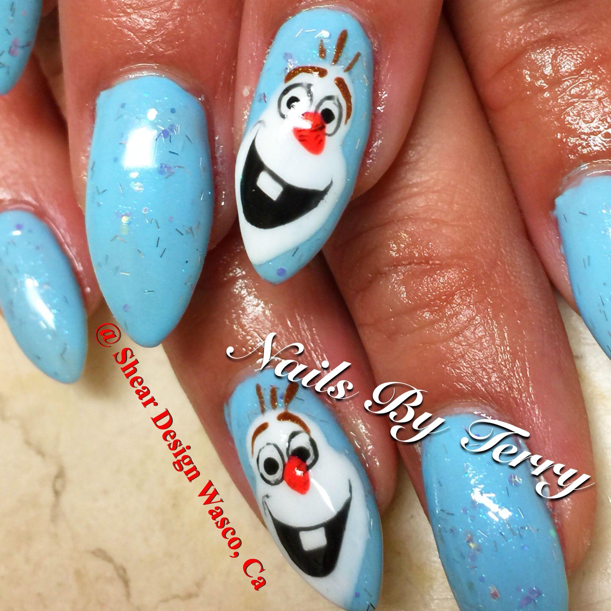 Olaf Christmas Nails