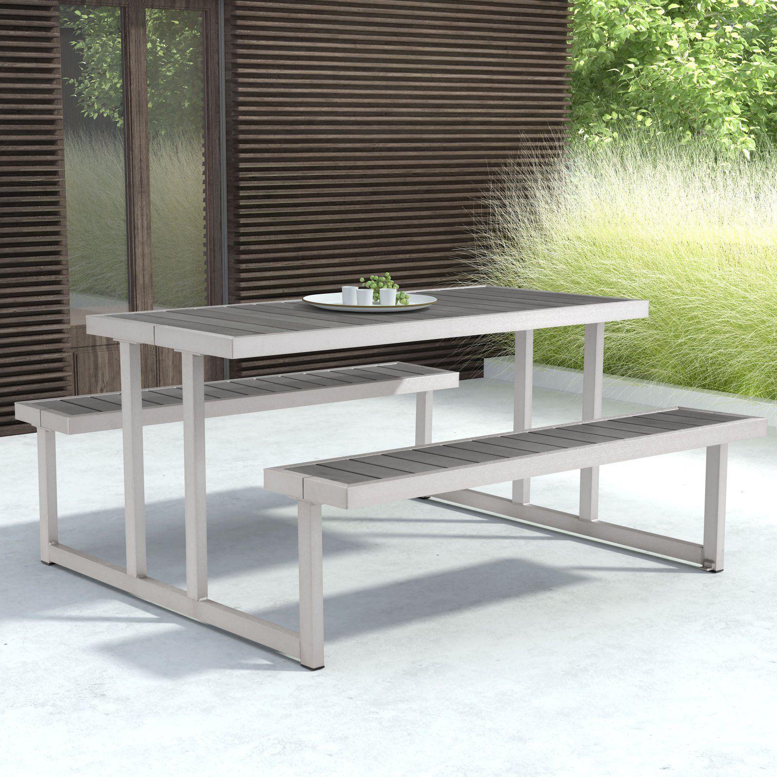 Outdoor zuo vive cuomo picnic table