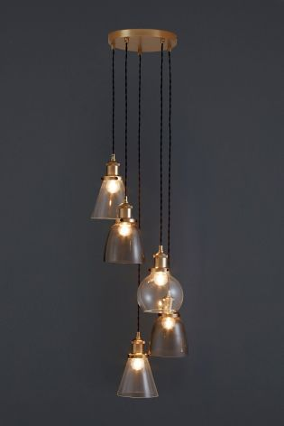 Buy Radius 5 Light Industrial Cluster Pendant From The Next Uk