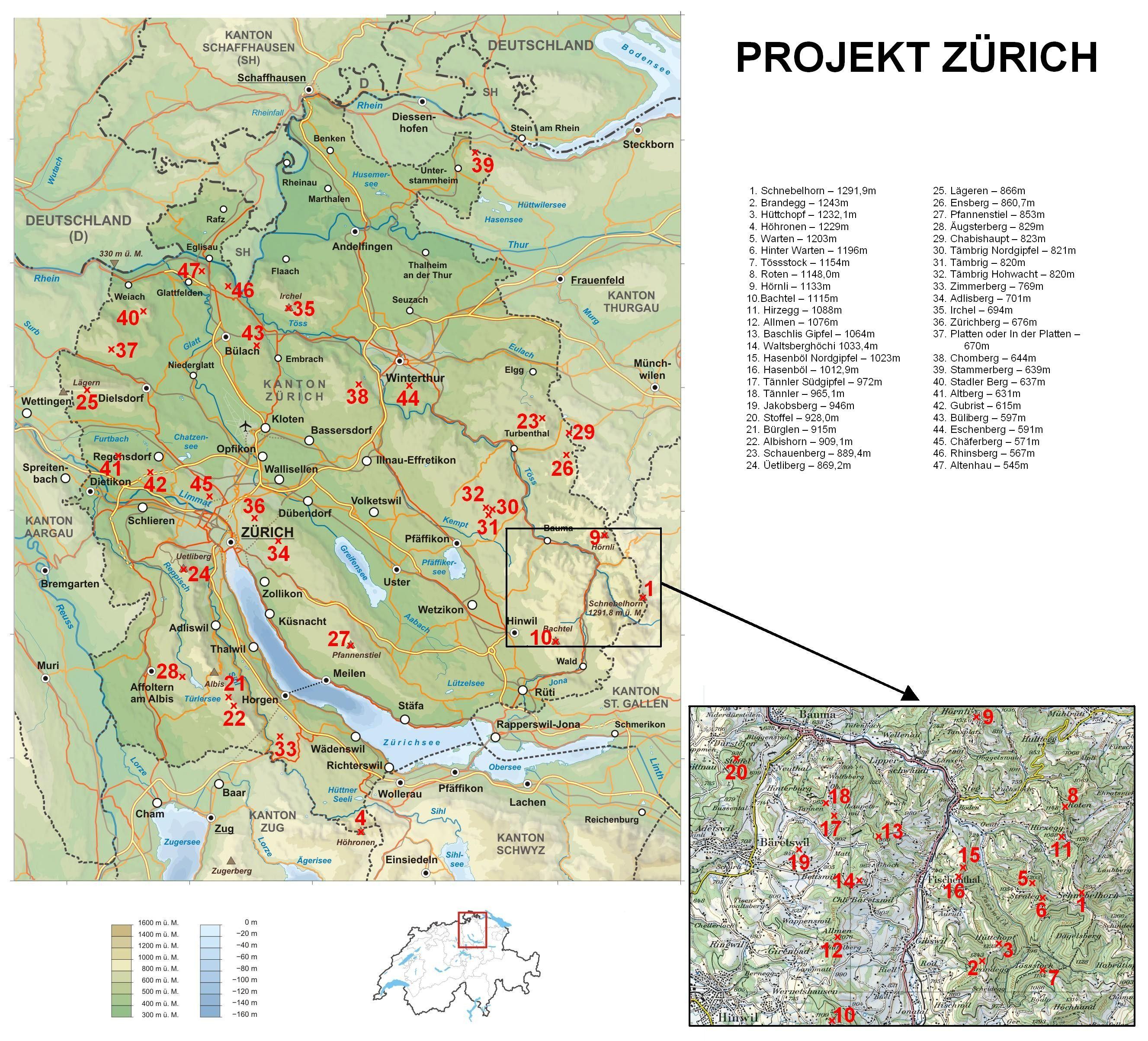 Gipfel um Zürich