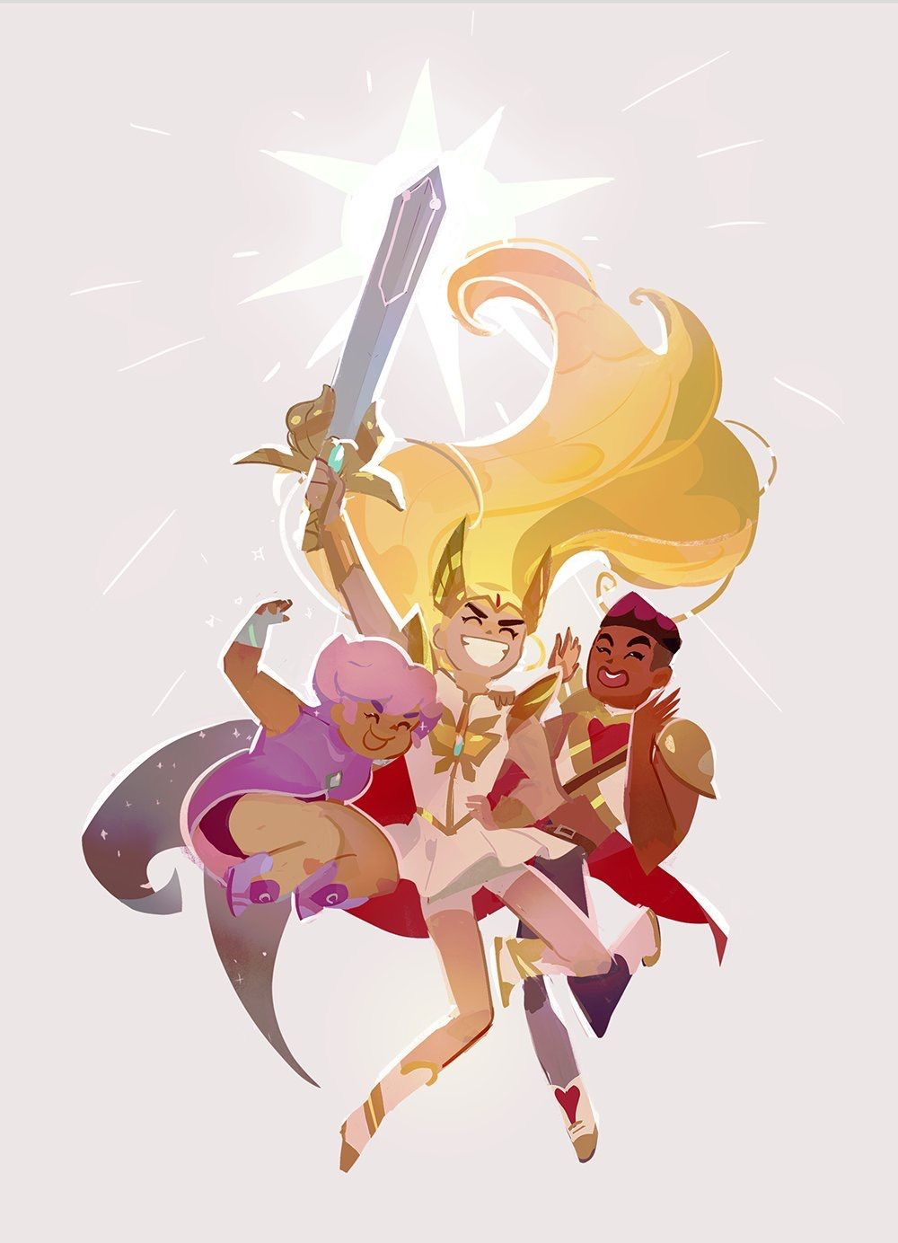 SheRa the Princess of Power 2018 Adora Glimmer and Bow