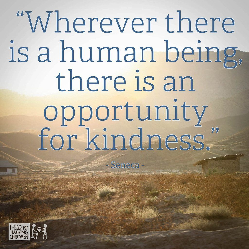 Wherever There Is A Human Being There Is An Opportunity
