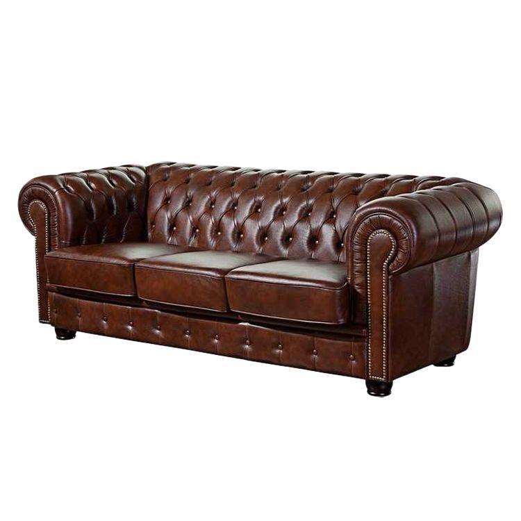 Sofa Redwick (3-Sitzer) - Echtleder Braun, Max Winzer Jetzt - mobel braun wohnzimmer