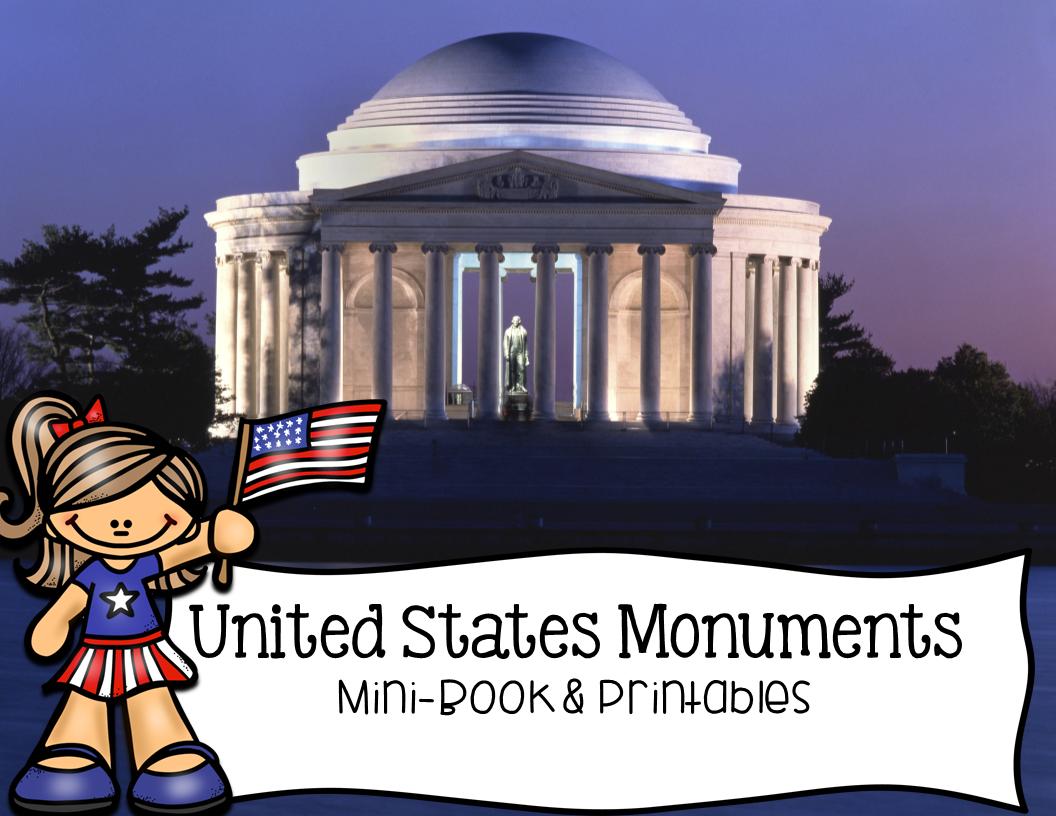 United States Monuments Washington D C Mini Book And Printables
