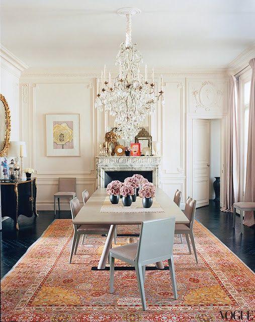 L\'wren Scott Mick Jagger\'s Paris apartment in Vogue.   Furniture ...