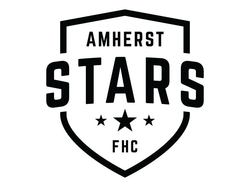 Amherst Stars Logo V3 Star Logo Logos Hockey Logos