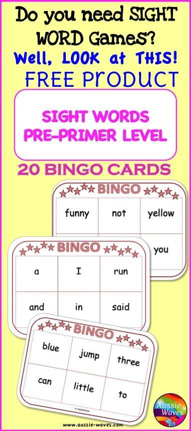word bingo card