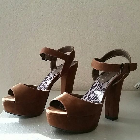 Madden girl heels Worn once. 4+inch heel. Excellent condition for used. Comfy. Madden Girl Shoes Heels