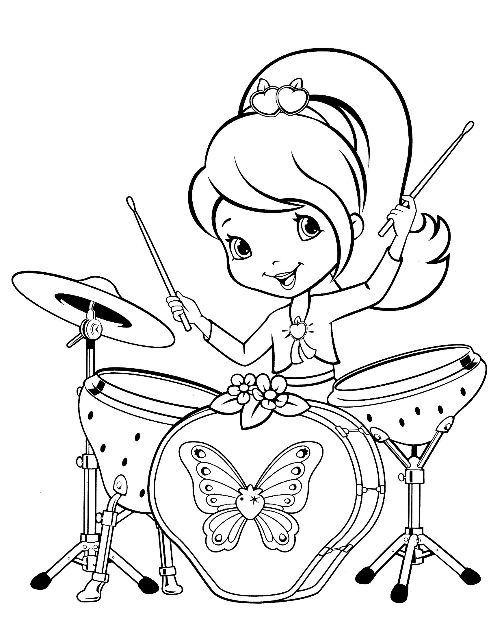 Strawberry Shortcake Coloring Pages Free Download - Texas Life ...