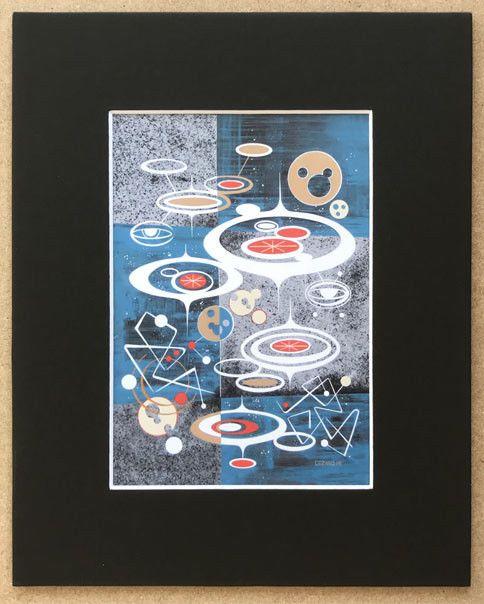 RETRO PRINT eames era atomi sci fi space age MID CENTURY