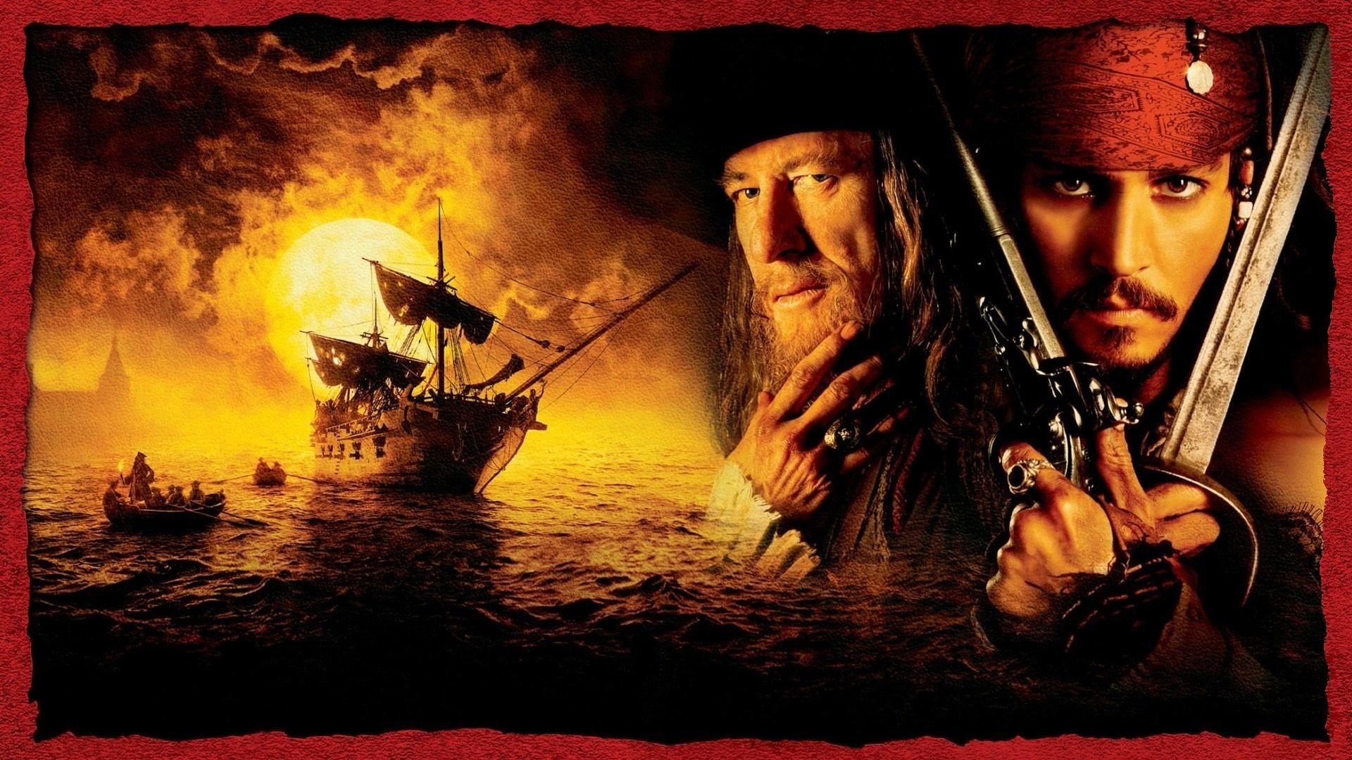Печать, открытка пираты карипскава моря