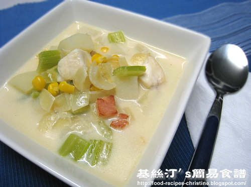周打魚湯【快靚正餐湯】Fish Chowder Soup from 簡易食譜