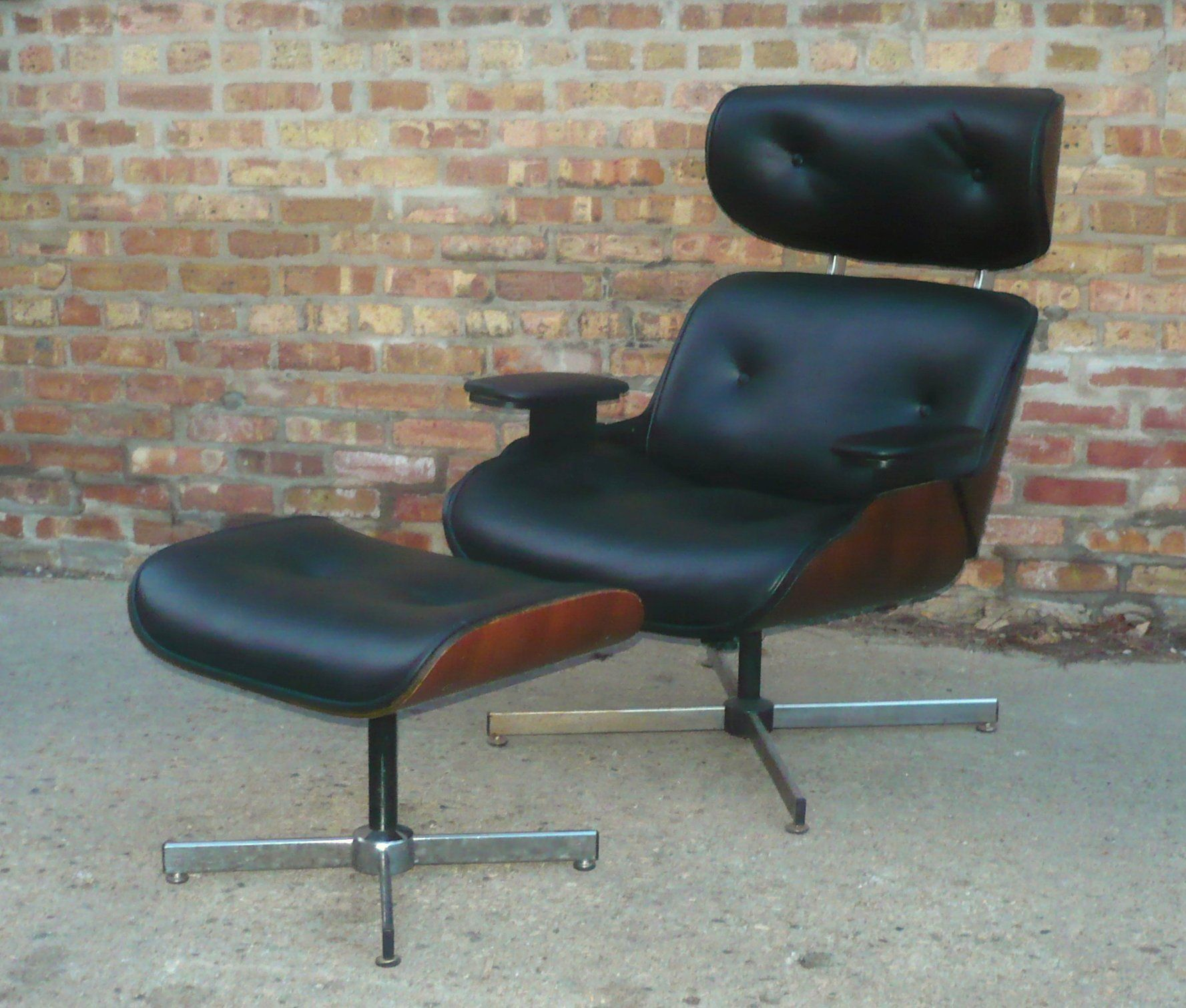 RESTORED Plycraft, Eames Style, NEW Leather, Rosewood