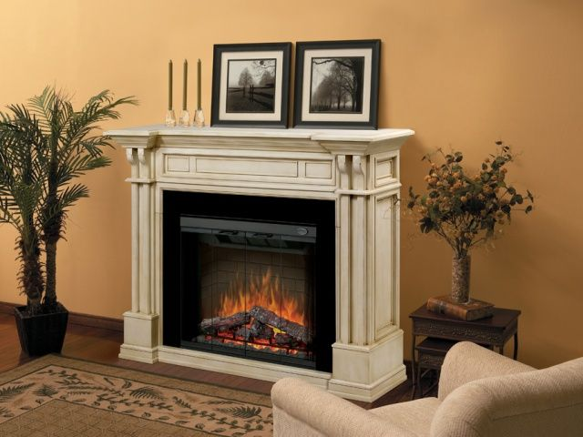 Kendal Parchment Electric Fireplace Mantel Package - GDS32-1164P ...