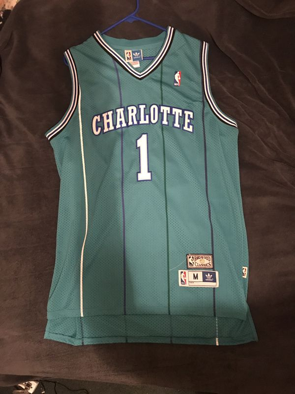 nice shoes 0bbbf 55de7 Muggsy Bogues Charlotte hornets basketball jersey for Sale ...