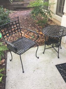 Easy And Cheap Diy Patio Furniture Update Using Spray Paint
