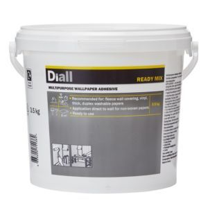 Diall Wall Paper Glue Ready To Use Wallpaper Adhesive 3 5