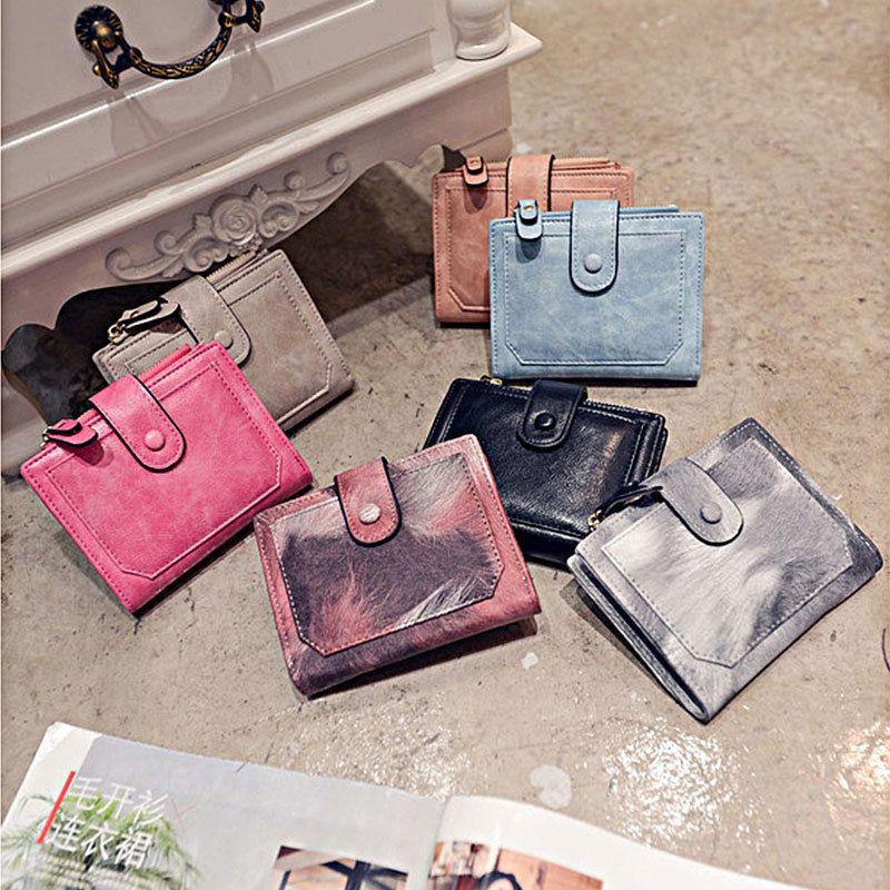 Fashion women wallet coin purse clutch wallet trifold card