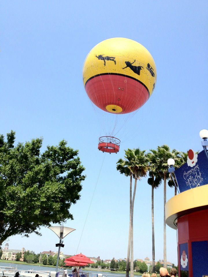 A hot air balloon ride at Downtown Disney!