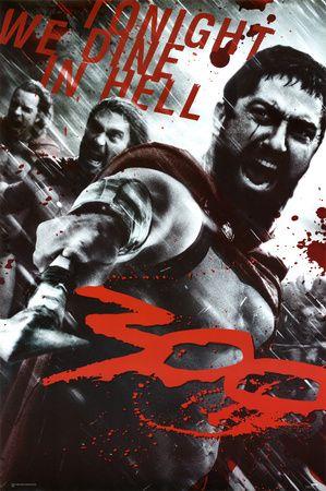 300 Spartan Art Silk poster 12x18 24x36