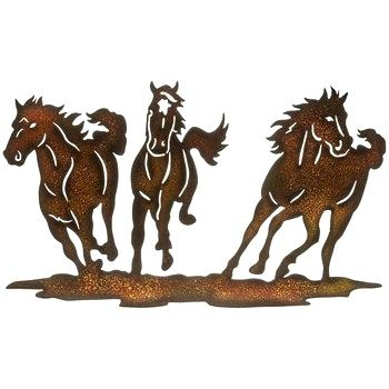 Running Horses Metal Wall Decor Hobby Lobby Horse Art Horseshoe For Sale Running Horses Western Wall Art Horse Silhouette