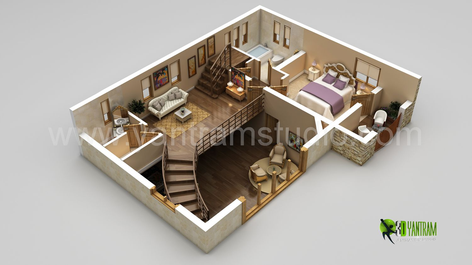 3D Floor Plan Rendering   3D Floor Plan Design   CG Gallery   Computer  Graphics Forum | Collection (not Filing Yet) | Pinterest | Interiors, House  And ...