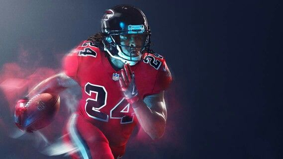 Devonta Freeman Atlanta Falcons New Color Rush Uniform Rise Up Color Rush Uniforms Nfl Color Rush Uniforms Color Rush
