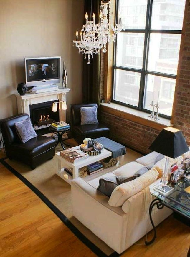 20 Breathtaking Rooms With Exposed Brick  Bricks Room And Apartments Fair How To Arrange Living Room Furniture In A Small Space Design Decoration