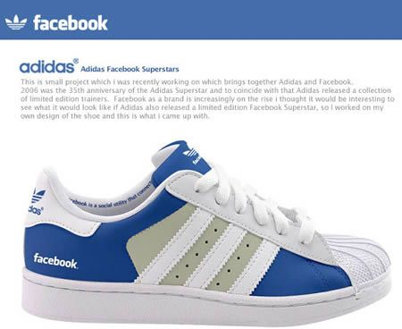 10 Coolest Facebook-Inspired Products - facebook adidas, facebook tattoo,  facebook pillow - Oddee