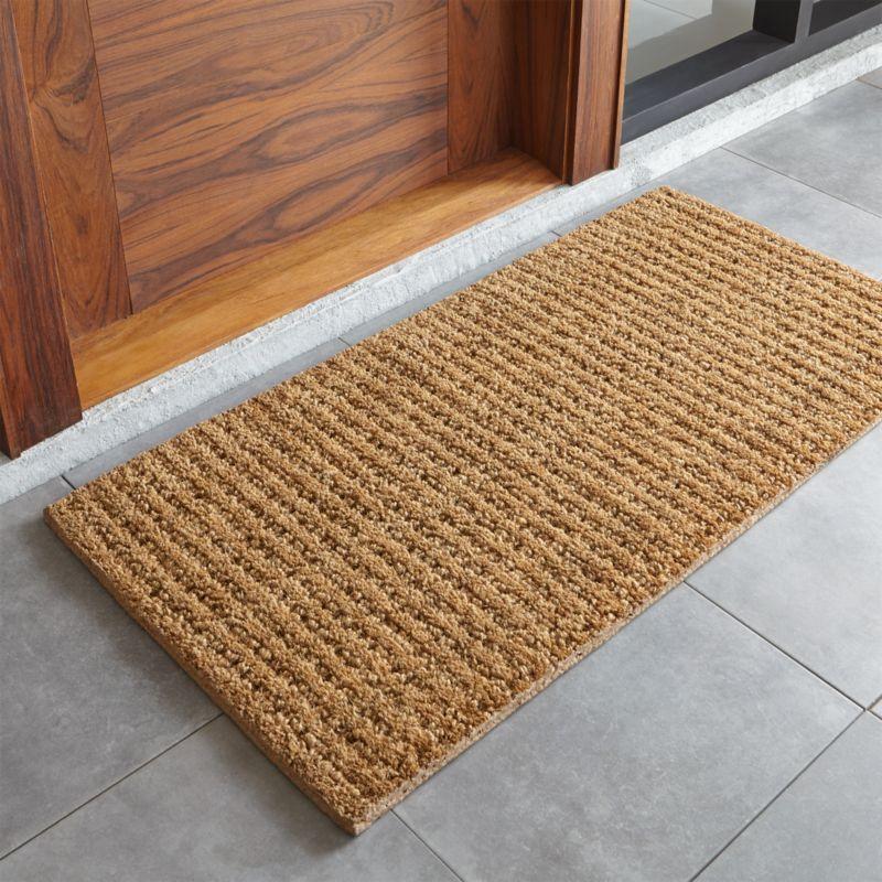 Shop Natural Coir Doormat Triple Fiber Construction Adds A Design Dimension To This Natural Doormat Coarse Durable Door Mat Outdoor Door Mat Front Door Mats