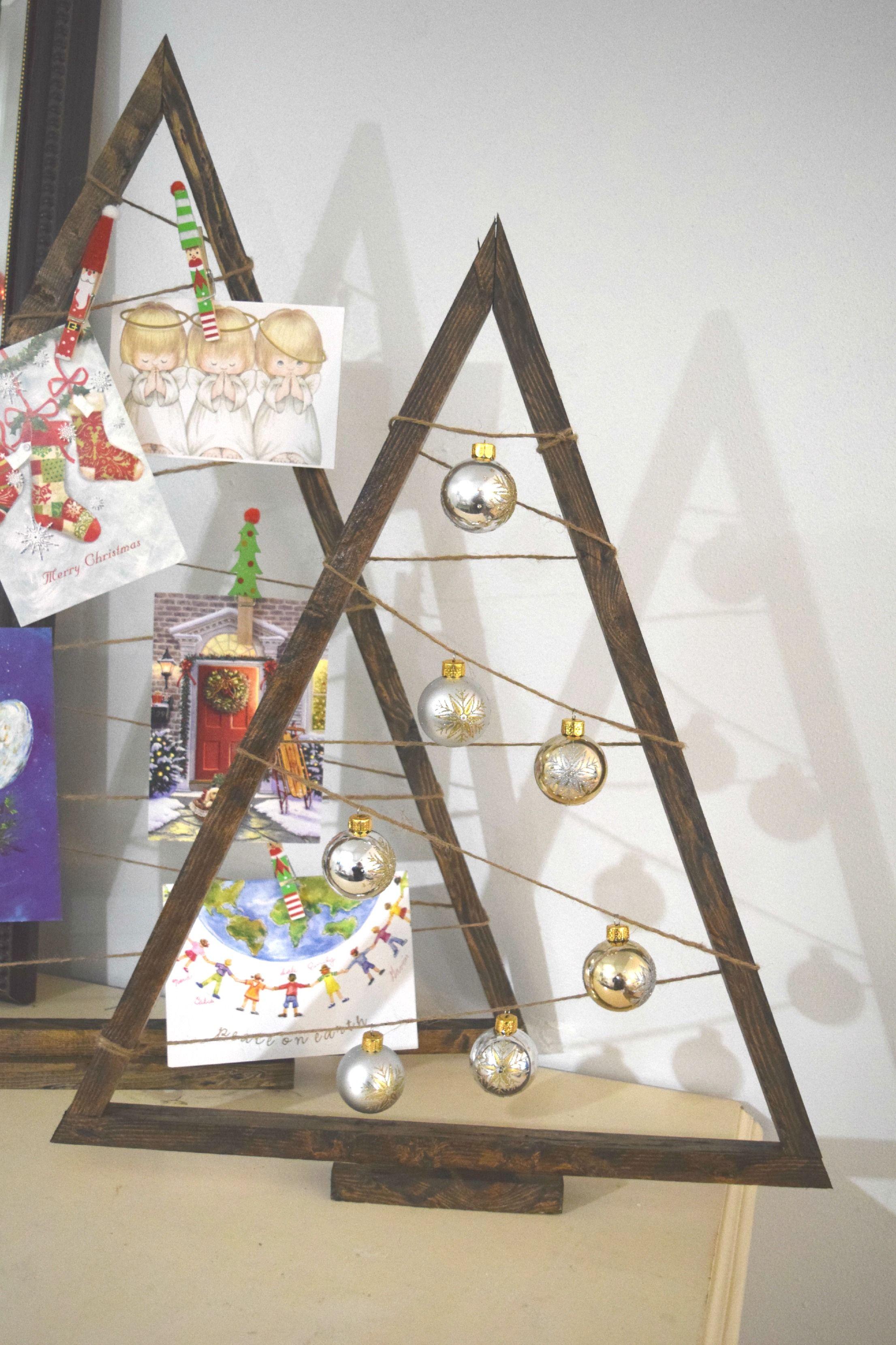 DIY wood Christmas tree craft Christmas tree crafts