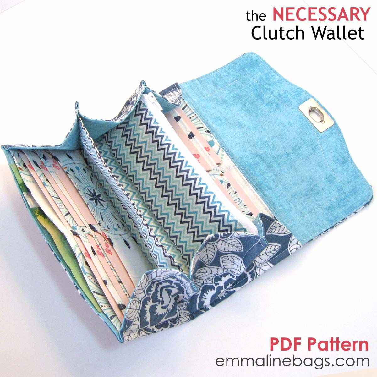 The necessary clutch wallet emmaline sewing patterns and purse the necessary clutch wallet emmaline sewing patterns and purse supplies jeuxipadfo Image collections