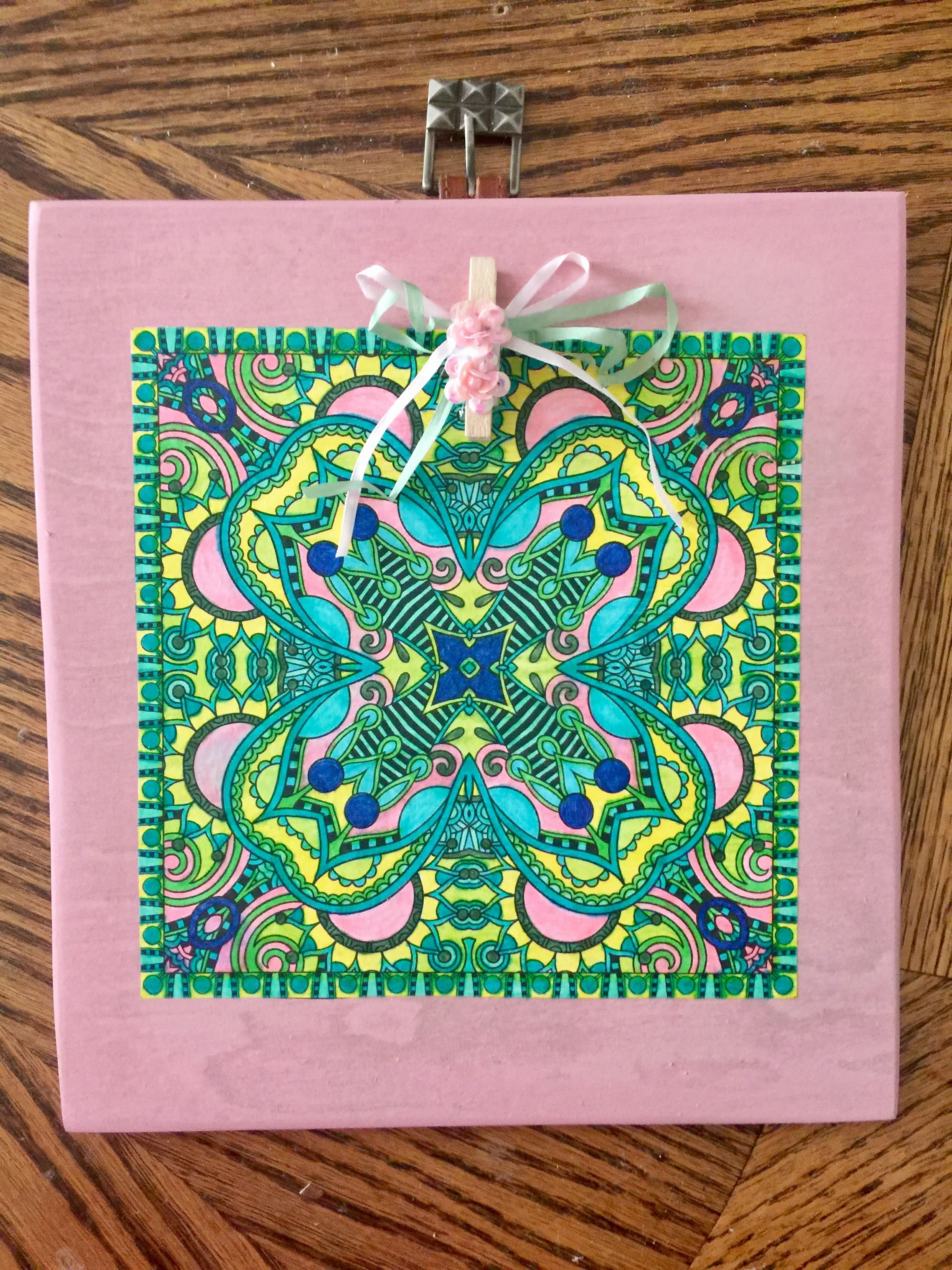 Adult coloring pink green picture frame things ive made adult coloring pink green picture frame jeuxipadfo Images