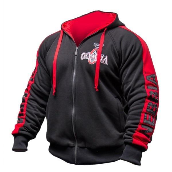 Olympia Men Gyms Hoodies Gyms Fitness Bodybuilding Sweatshirt Crossfit Pullover Sportswear Male Worko Black Long Sleeve Sweatshirt Hoodies Men Sweatshirt Pants