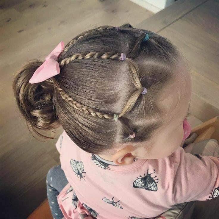 Pin By Aynur On Ninas Toddler Hair Dos Girl Hair Dos Girl Hairstyles