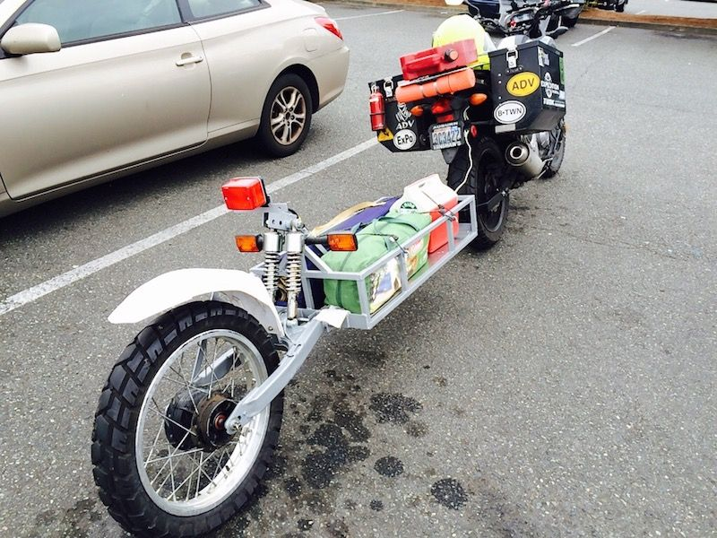 How I built my own motorcycle trailer Adventure Bike