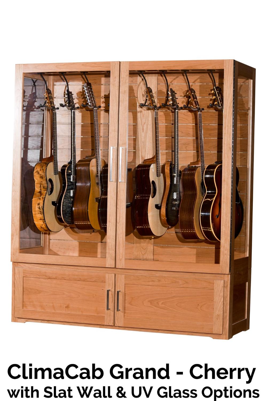 Multi Instrument Humidified Guitar Display Cabinet Acoustic Remedy Guitar Display Case Guitar Display Guitar Storage